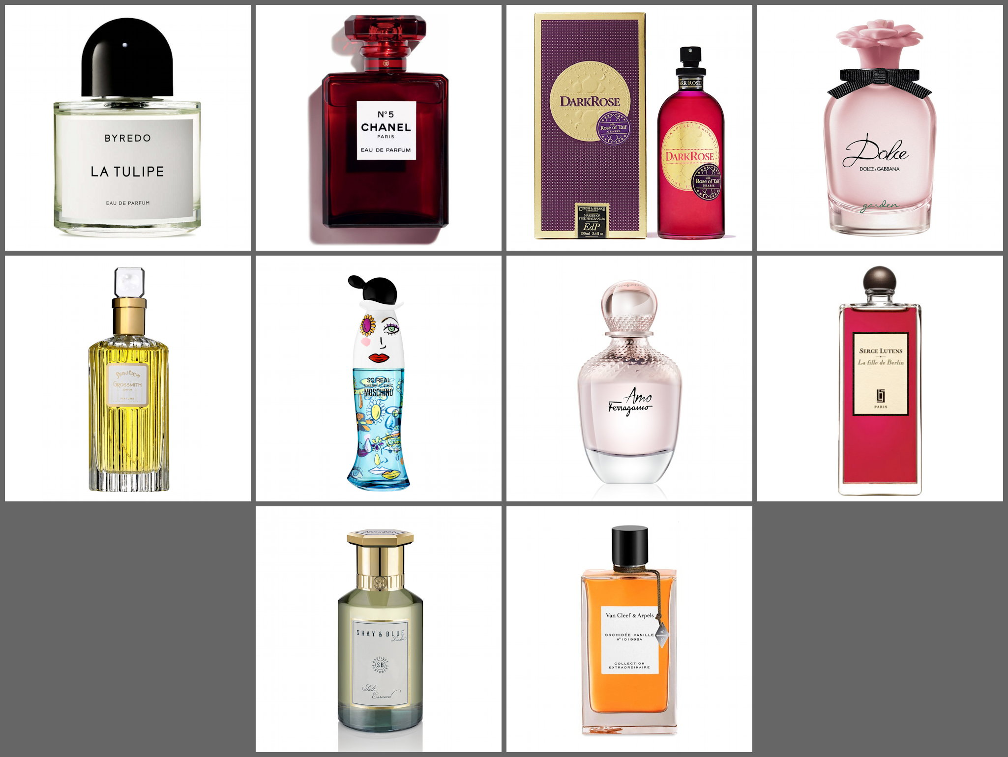 fivezero's Top 10: Wishy-Washy Wishlist perfumes