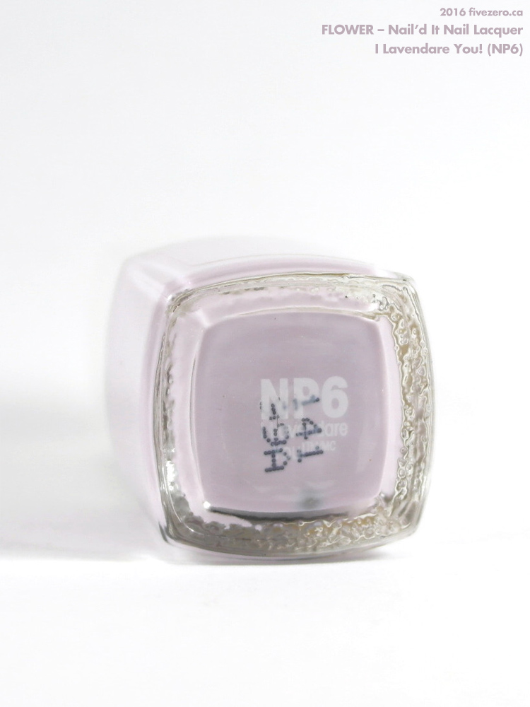 Flower Nail'd It Nail Lacquer in I Lavendare You!, label