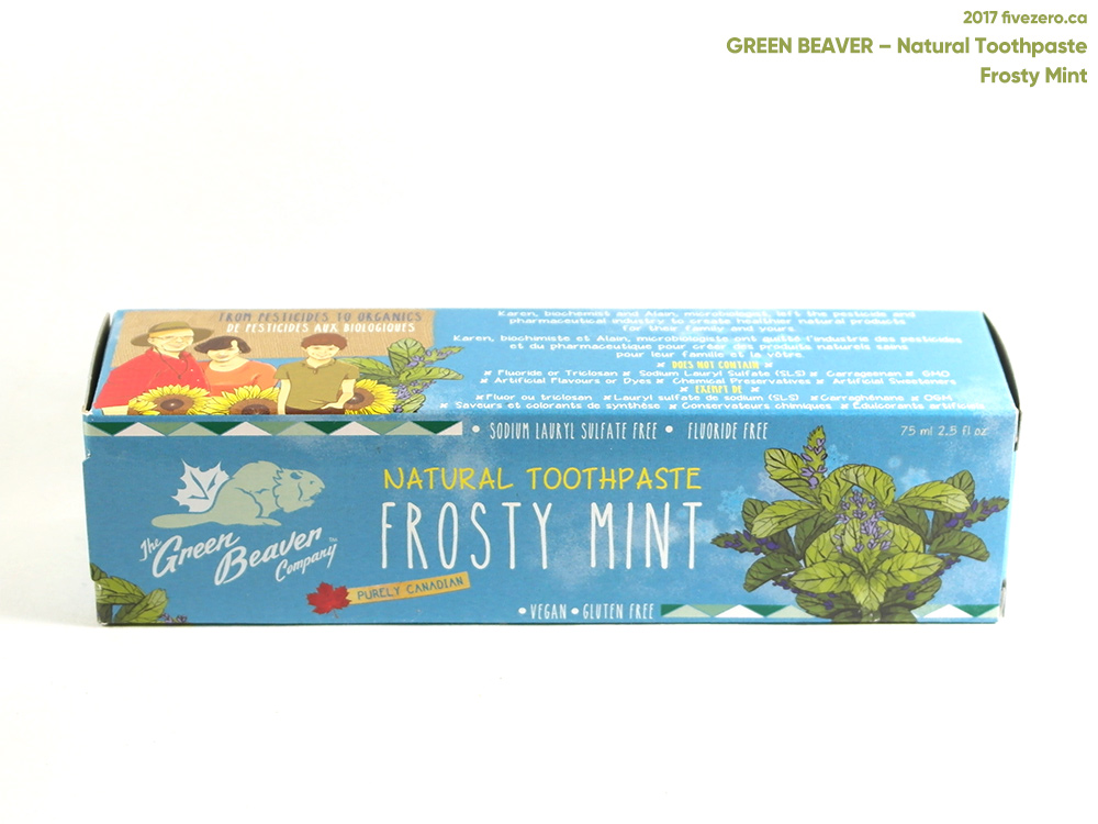 Green Beaver Natural Toothpaste in Frosty Mint