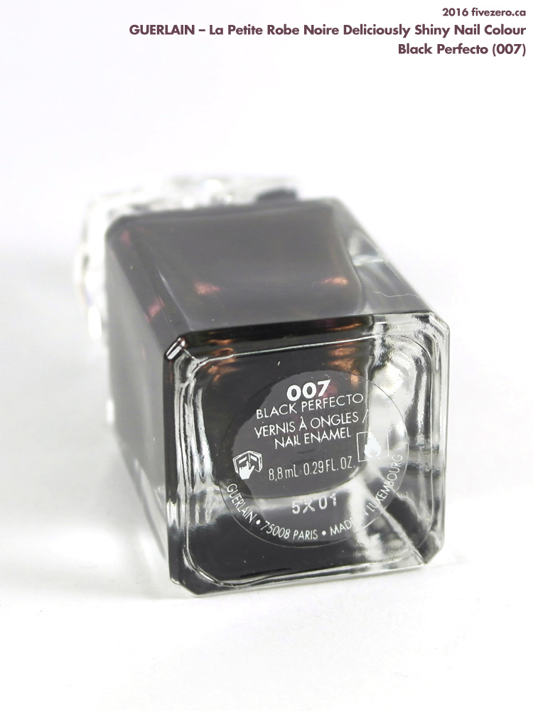 Guerlain La Petite Robe Noire Deliciously Shiny Nail Colour in Black Perfecto, label