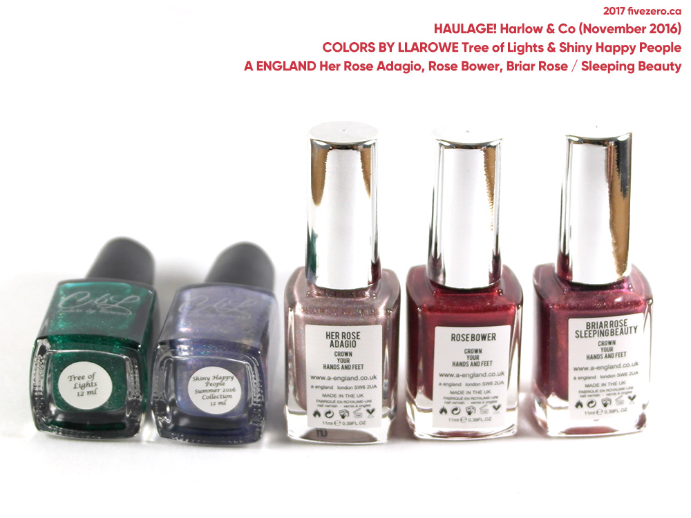 Indie Nail Polish Haulage from Harlow & Co (November 2016)