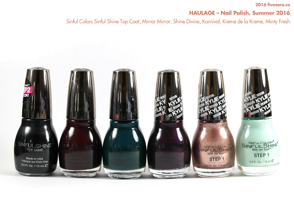 Haulage, fivezero's nail polish, summer 2016, Sinful Colors Sinful Shine