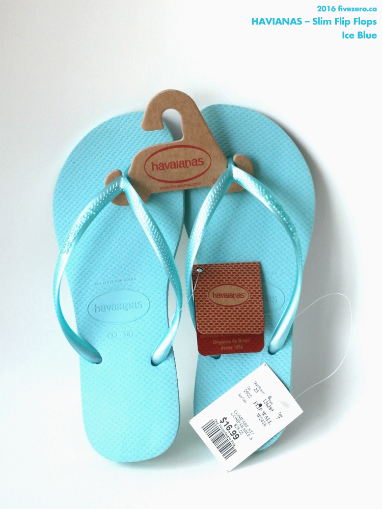 Havianas Slim Flip Flops in Ice Blue
