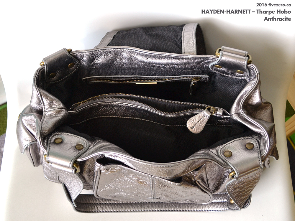 Hayden-Harnett Tharpe Hobo in Anthracite, interior