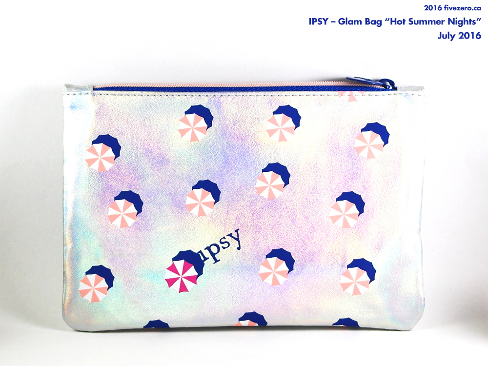 Ipsy makeup bag, July 2016, Hot Summer Nights