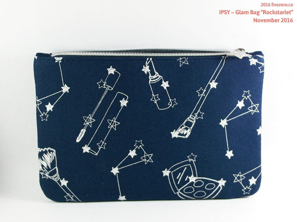 Ipsy Glam Bag Rockstarlet makeup pouch (November 2016)