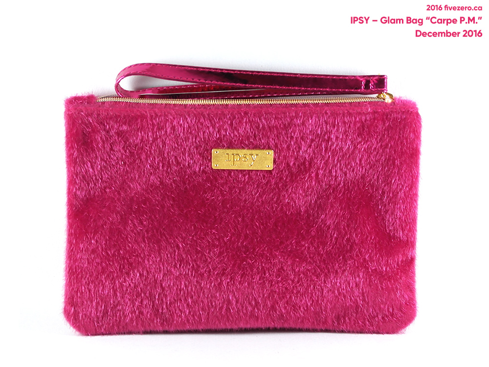 Ipsy Glam Bag Carpe P.M. makeup pouch (December 2016)