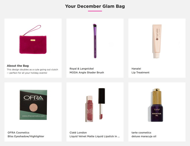 fivezero's Ipsy Glam Bag, December 2016, Carpe P.M.