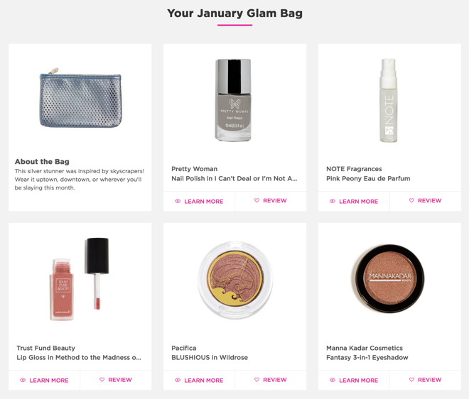 fivezero's Ipsy Glam Bag, January 2017, Metropolis