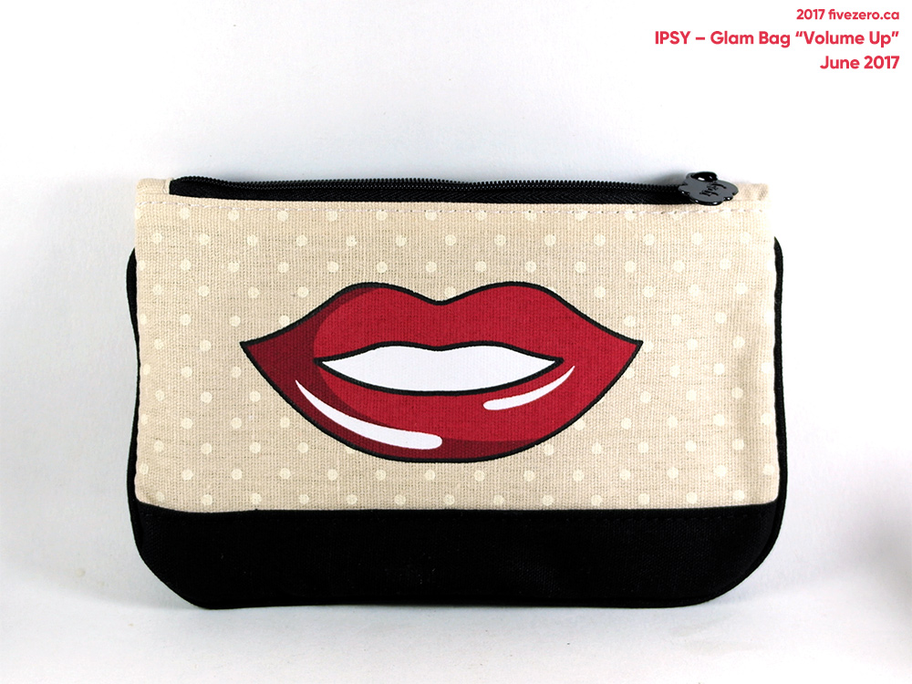 Ipsy Glam Bag Volume Up makeup pouch (June 2017)