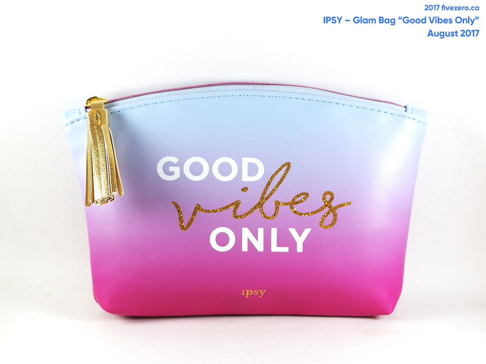 Ipsy Glam Bag Good Vibes Only makeup pouch (August 2017)