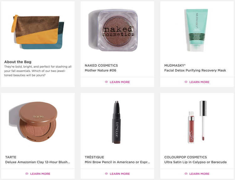fivezero's Ipsy Glam Bag, November 2017, All You.