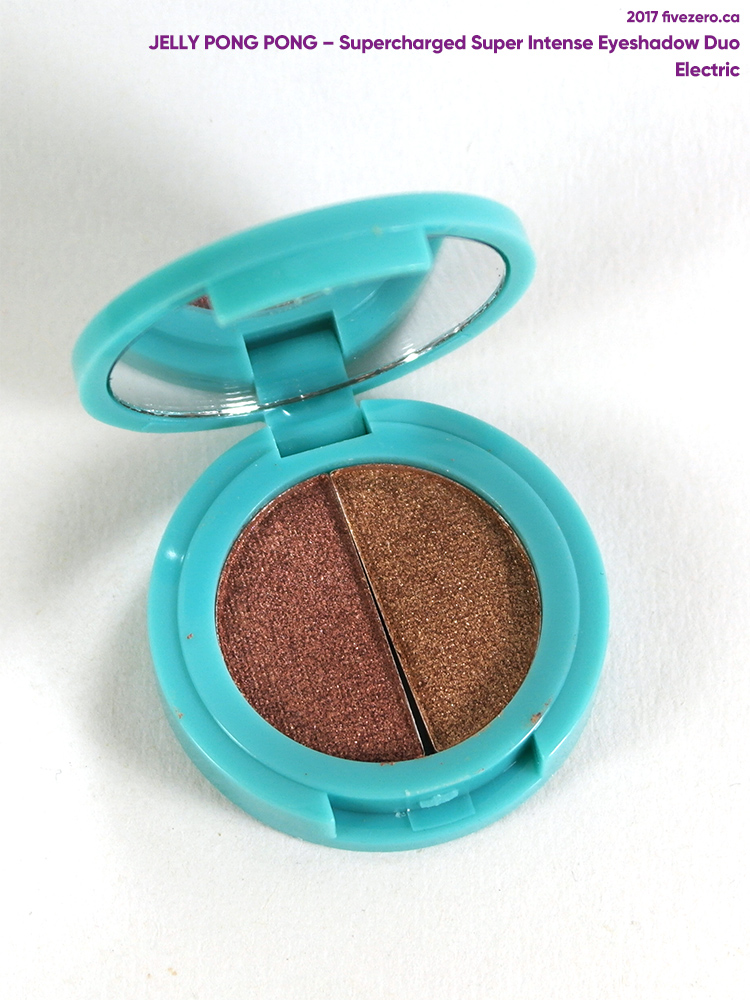 Jelly Pong Pong Supercharged Super Intense Eyeshadow Duo in Electric