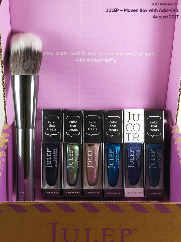 Julep Finishing Brush, Nail Colors in Jonna, Lou, Magdalene, Tessa, Wilma, Ange