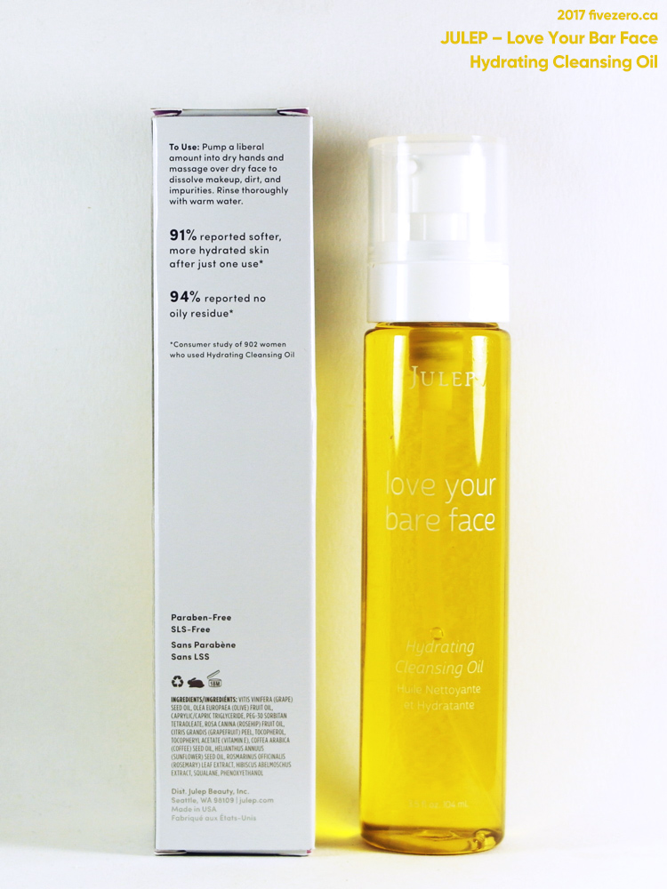 Julep Love Your Bare Face Hydrating Cleansing Oil, label