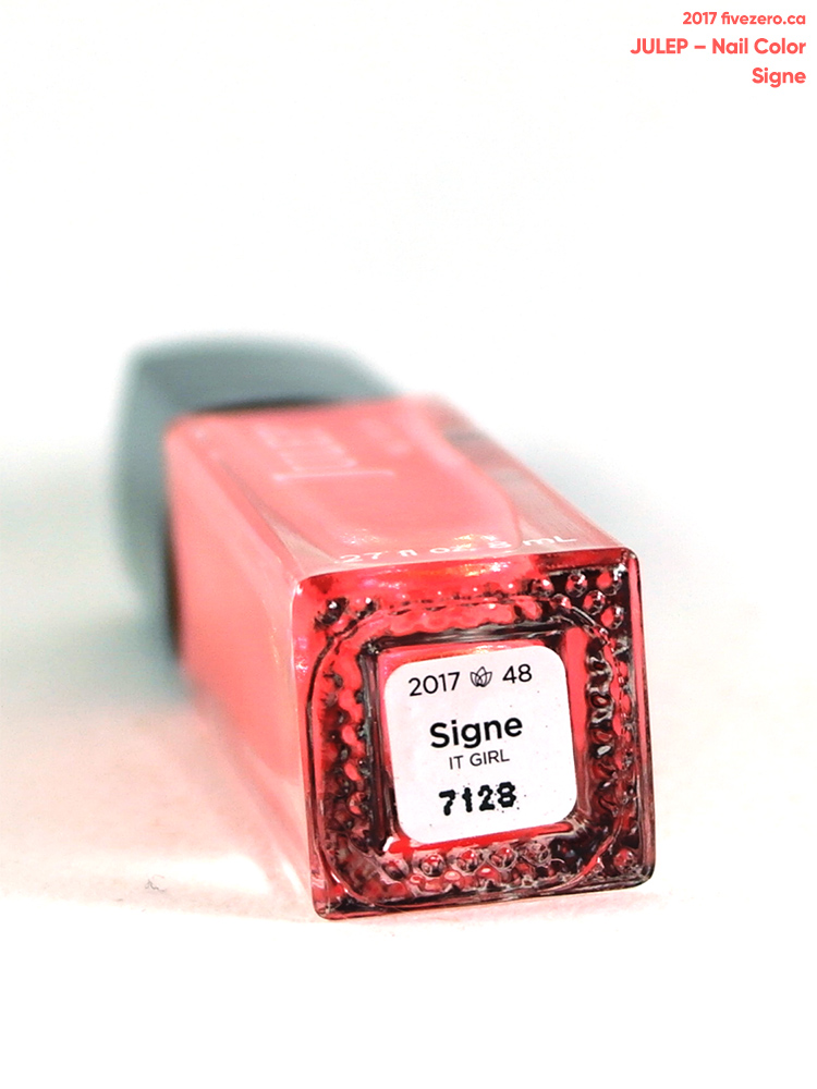 Julep Nail Color in Signe, label