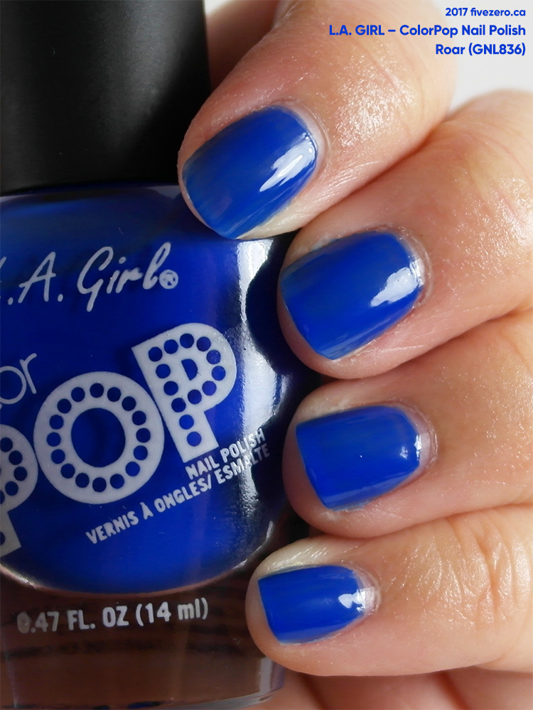 L.A. Girl Color Pop Nail Polish in Roar, swatch