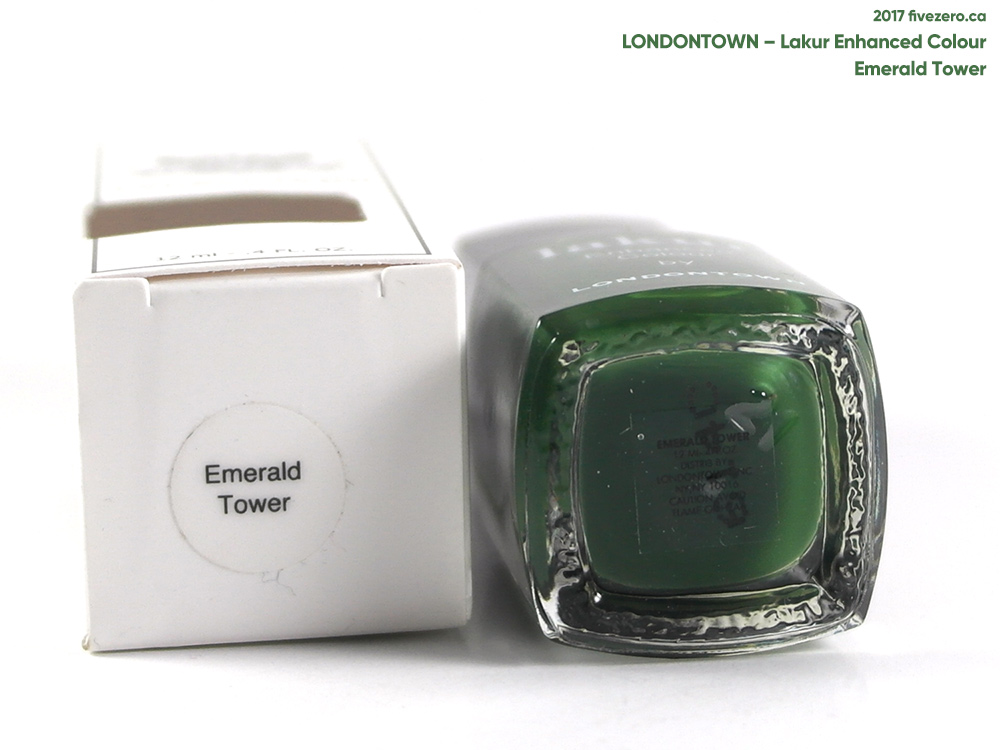 Londontown Lakur Enhanced Colour in Emerald Tower, label