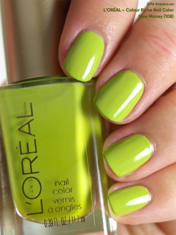 L'Oréal Colour Riche Nail Color in New Money, swatch