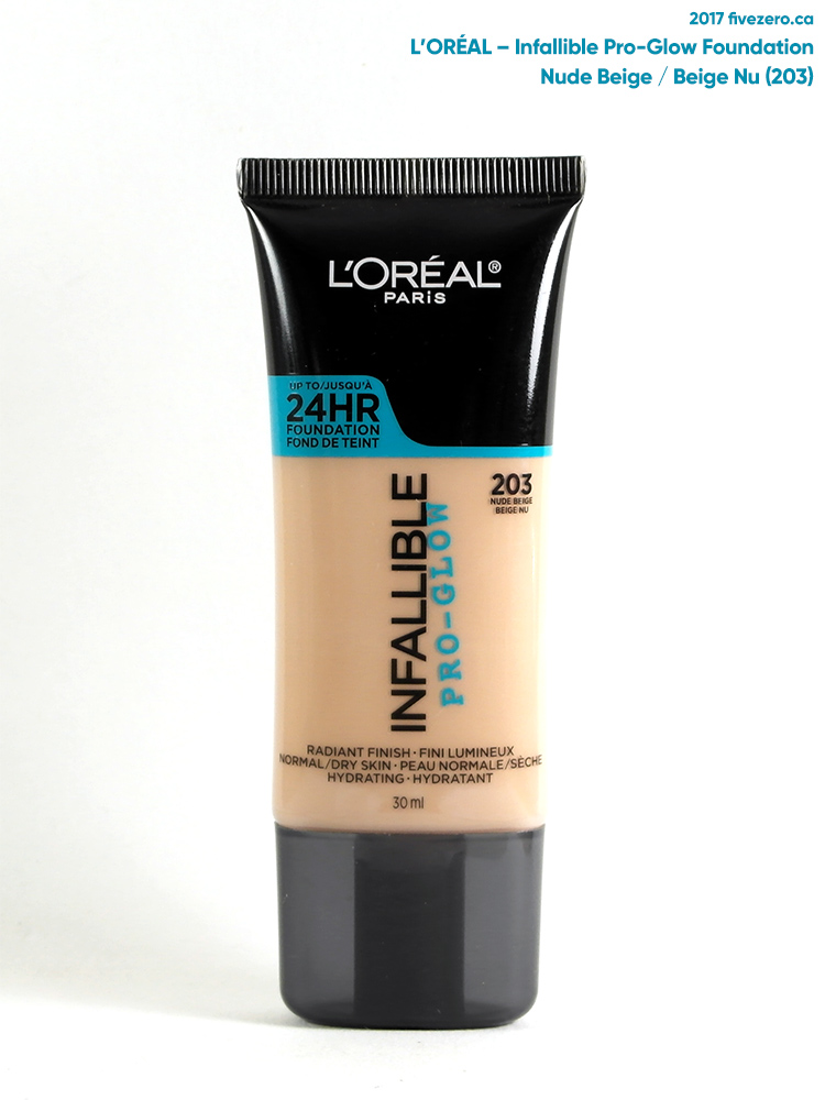L'Oréal Infallible Pro-Glow Foundation in Nude Beige (203)