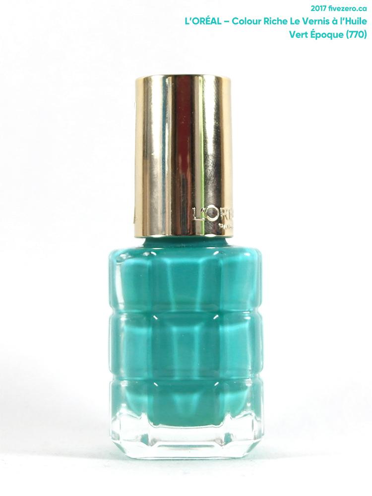 L'Oréal Le Vernis à l'Huile Nail Lacquer in Vert Époque