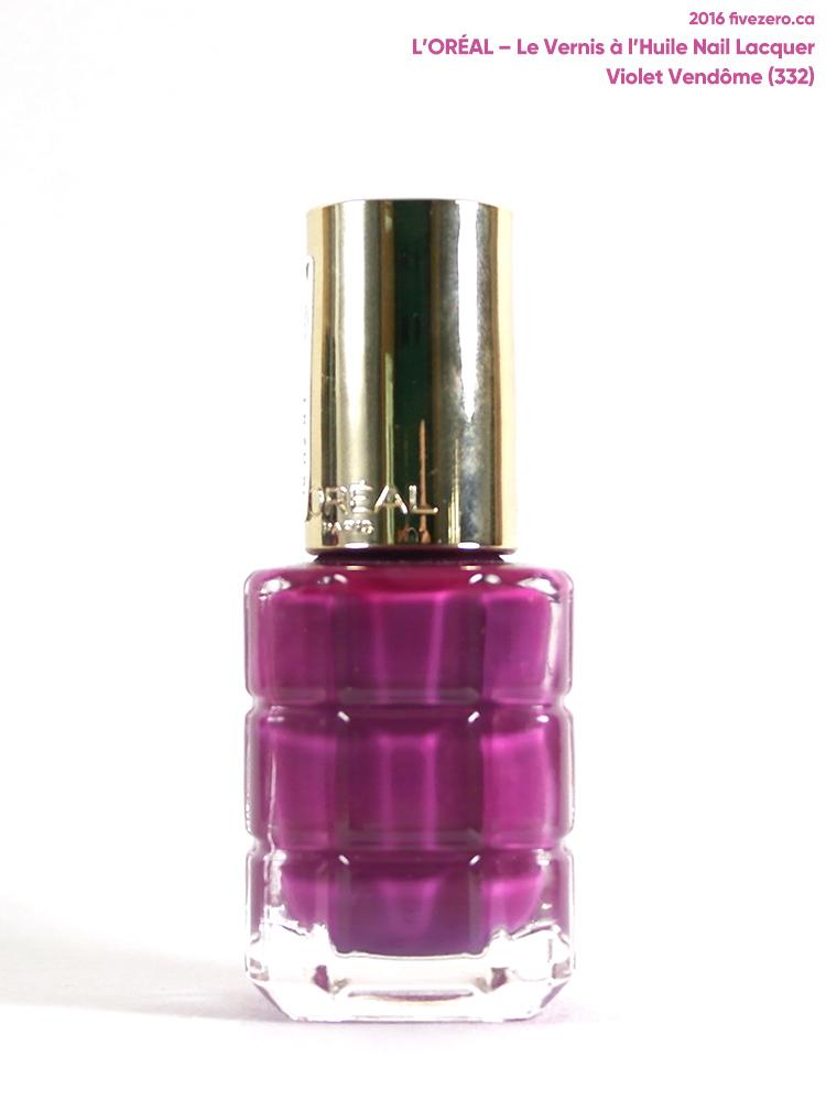 L'Oréal Le Vernis à l'Huile Nail Lacquer in Violet Vendôme