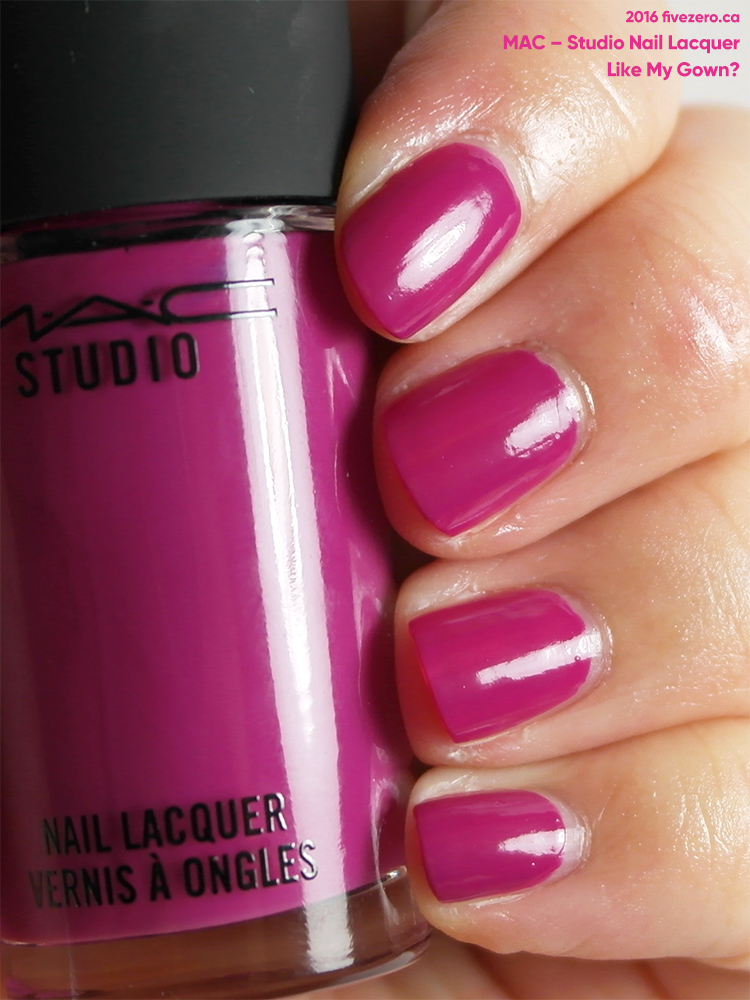 MAC Studio Nail Lacquer in Like My Gown?, swatch