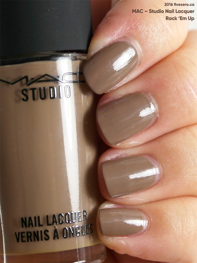 MAC Studio Nail Lacquer in Rack 'Em Up, swatch