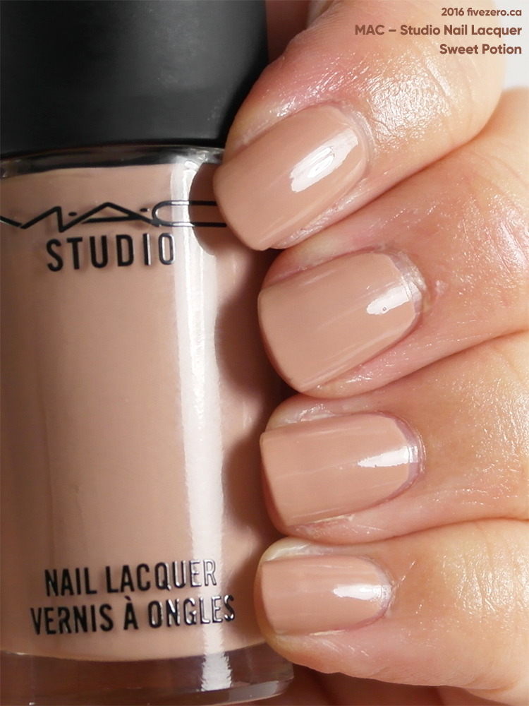 MAC Studio Nail Lacquer in Sweet Potion, swatch