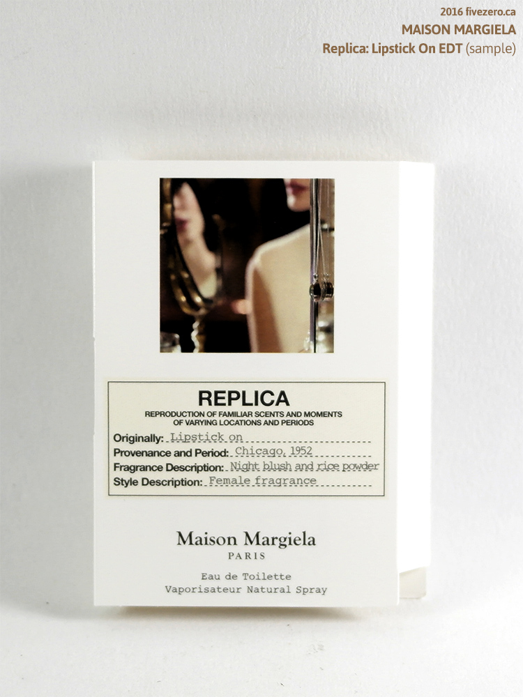 Maison Margiela Replica: Lipstick On EDT (sample)