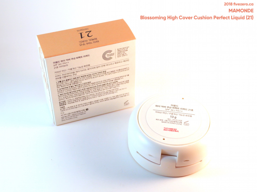Mamonde Blossoming High Cover Cushion Perfect Liquid in 21