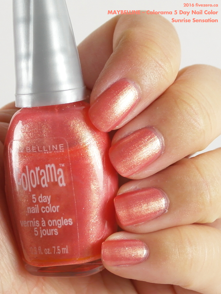 Maybelline Colorama 5 Day Nail Color in Sunrise Sensation, swatch