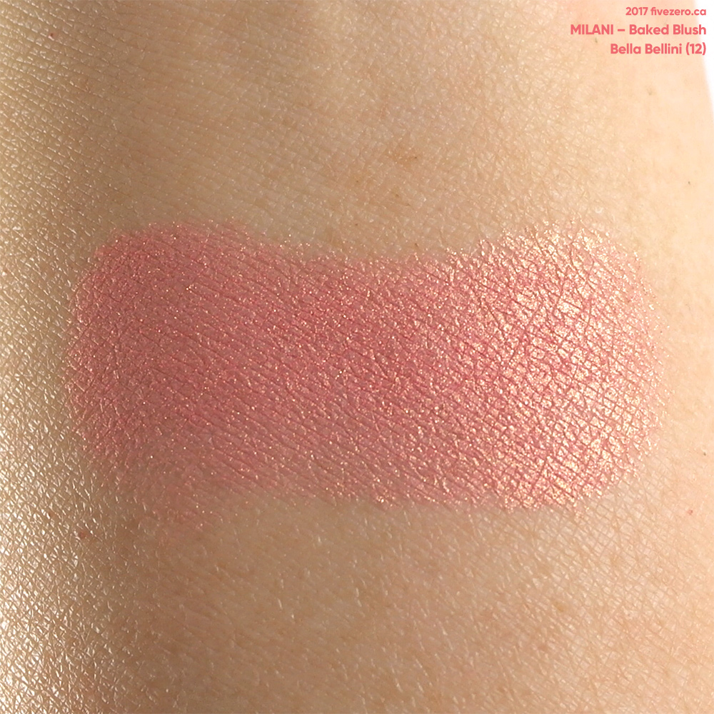 Milani Baked Blush in Bella Bellini, swatch