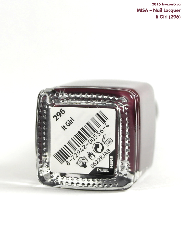 Misa Nail Lacquer in It Girl, label