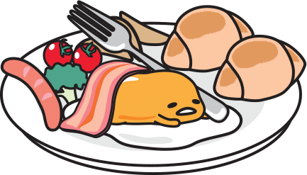 Sanrio Gudetama on a plate