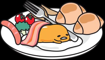 Sanrio Gudetama on a plate