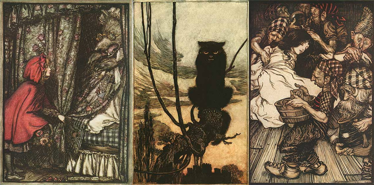 Grimm fairy tale illustrations by Arthur Rackham