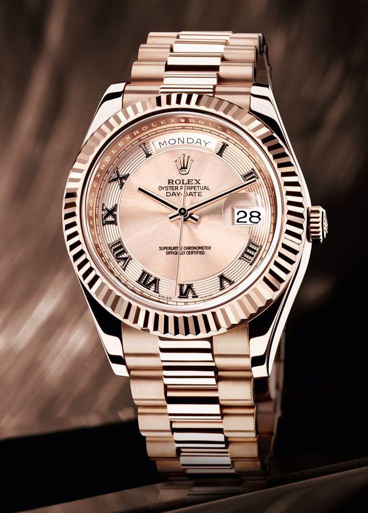 Rolex Day-Date watch in Everrose Gold