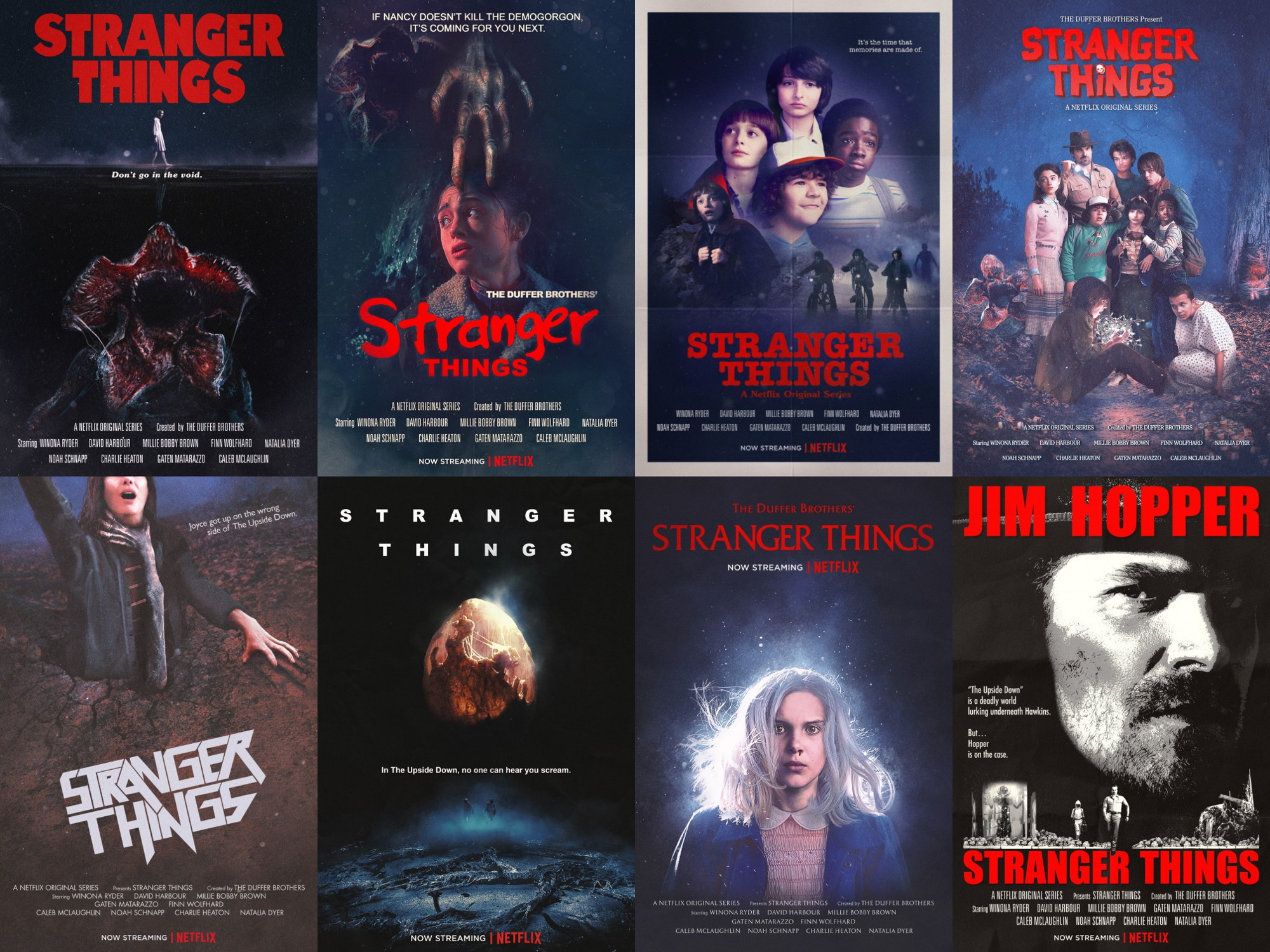 1970s and 1980s movie poster homages by Netflix Stranger Things 2