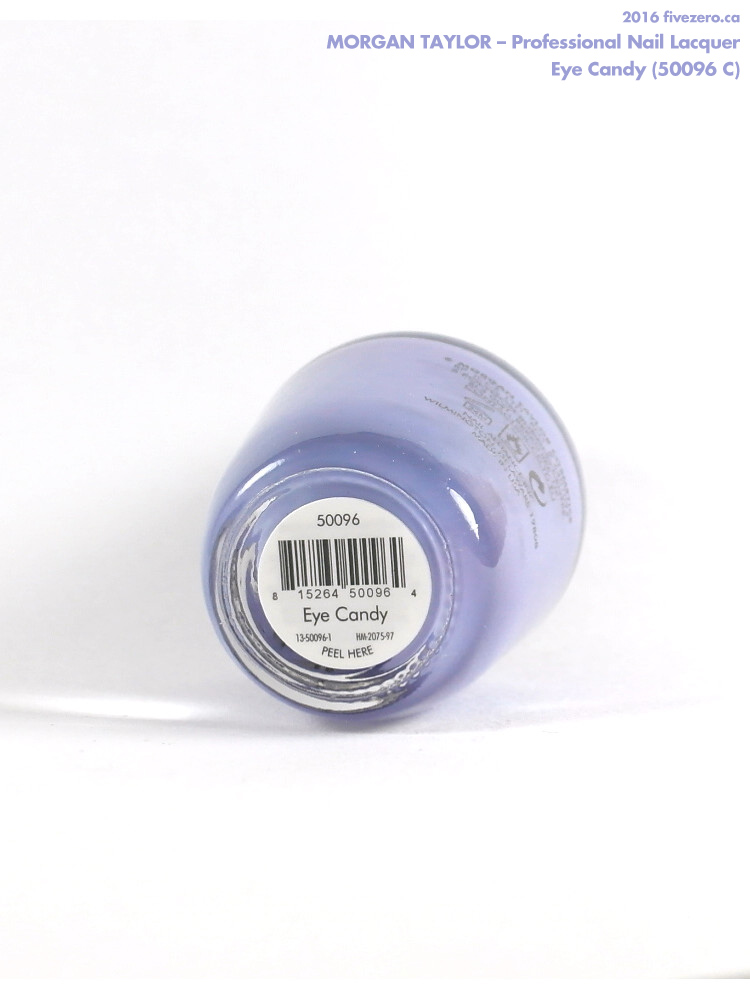 Morgan Taylor Professional Nail Lacquer in Eye Candy, label