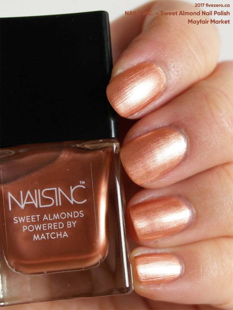 Nails Inc. Sweet Almond Nail Polish in Mayfair Market (mini), swatch