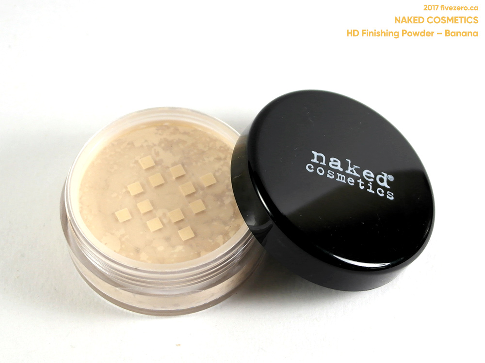 Naked Cosmetics HD Finishing Powder in Banana