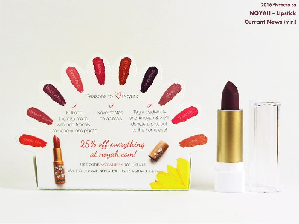 Noyah Lipstick in Currant News