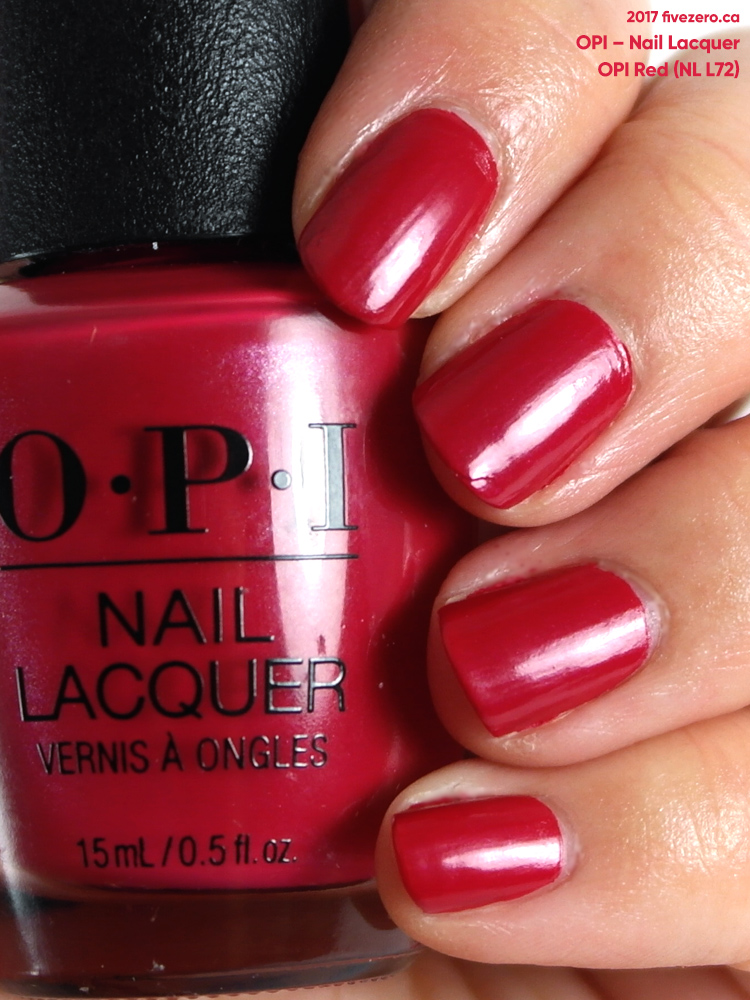 OPI Nail Lacquer in OPI Red, swatch