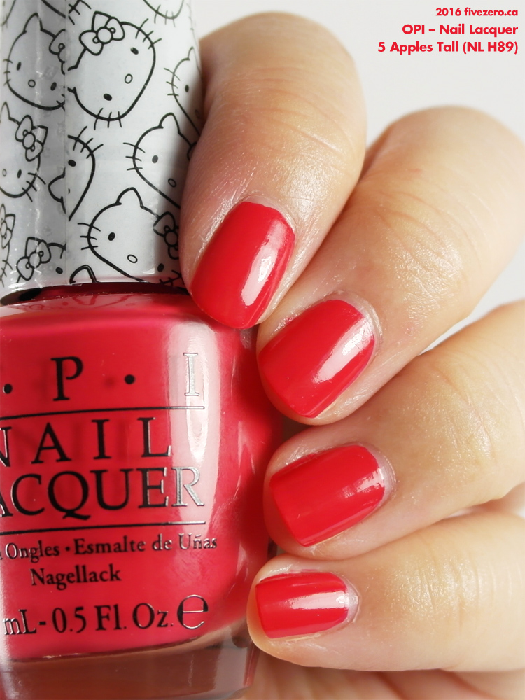OPI Nail Lacquer in 5 Apples Tall, swatch