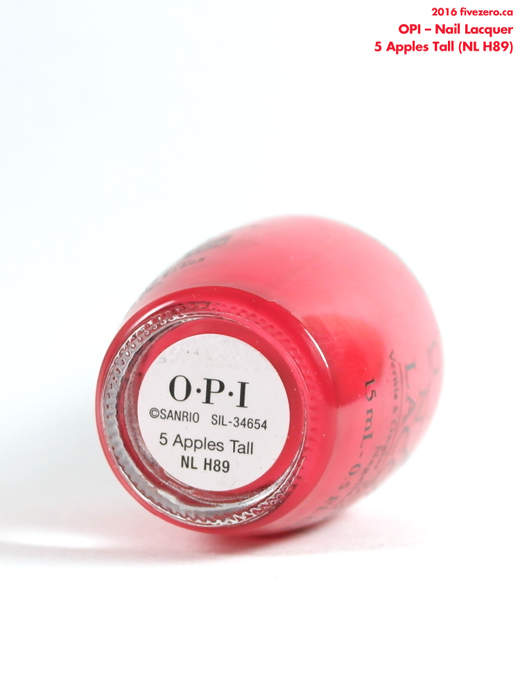 OPI Nail Lacquer in 5 Apples Tall, label