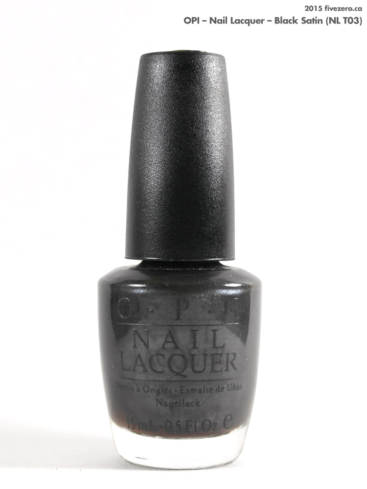OPI Nail Lacquer in Black Satin