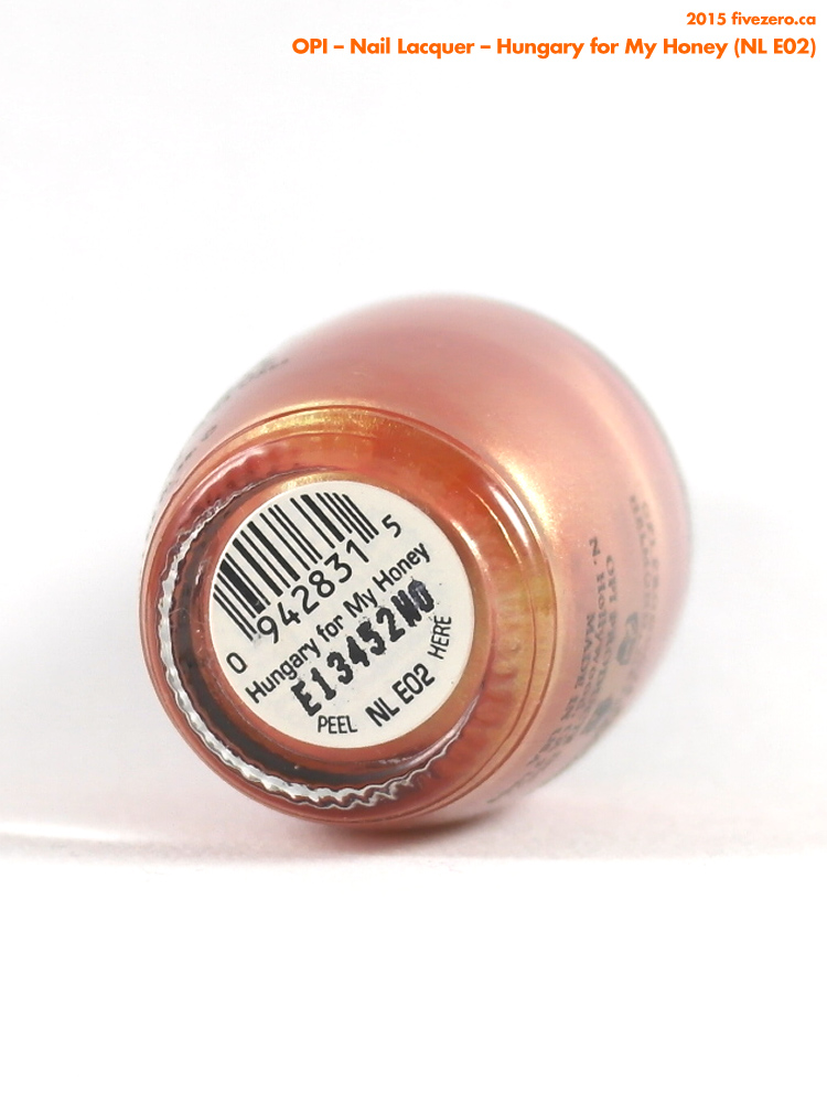 OPI Nail Lacquer in Hungary for My Honey, label