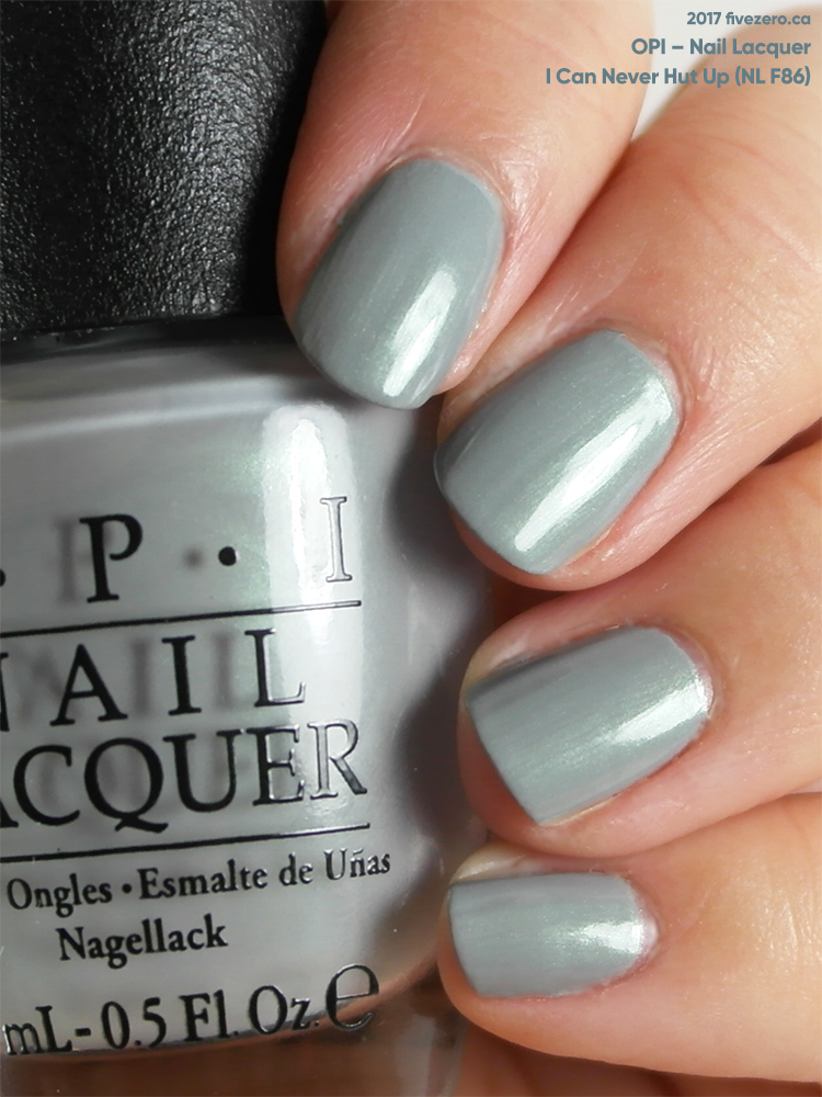 OPI Nail Lacquer in I Can Never Hut Up, swatch