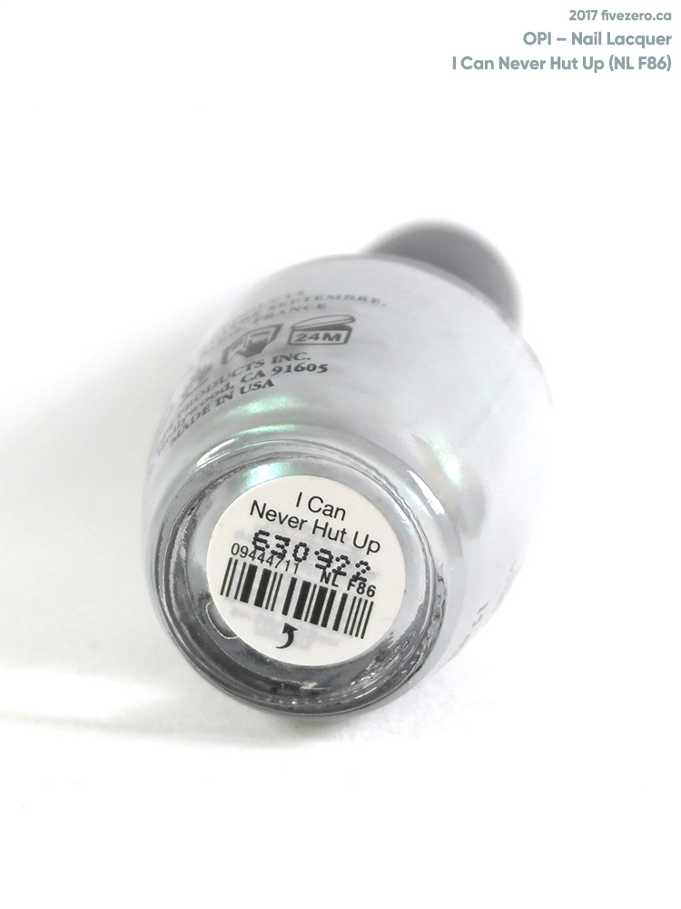OPI Nail Lacquer in I Can Never Hut Up, label
